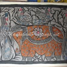 Elephant-Madhubani Paintings